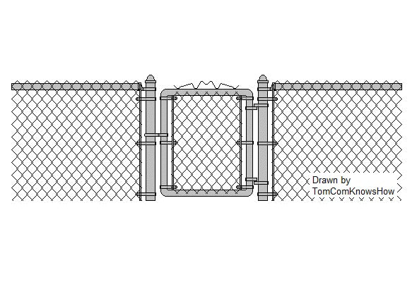 Retroing A Chain Link Fence Gate Tomcomknowshow